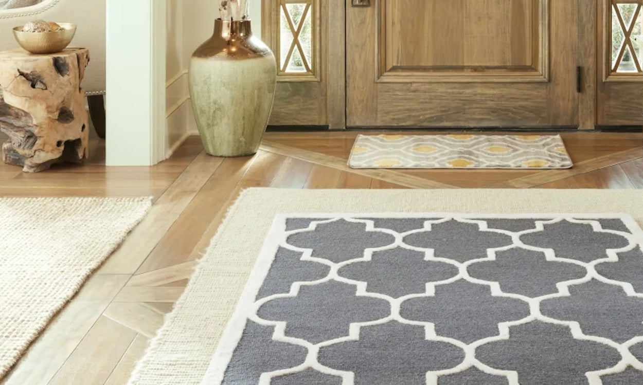 Use Foot Mats And Rugs