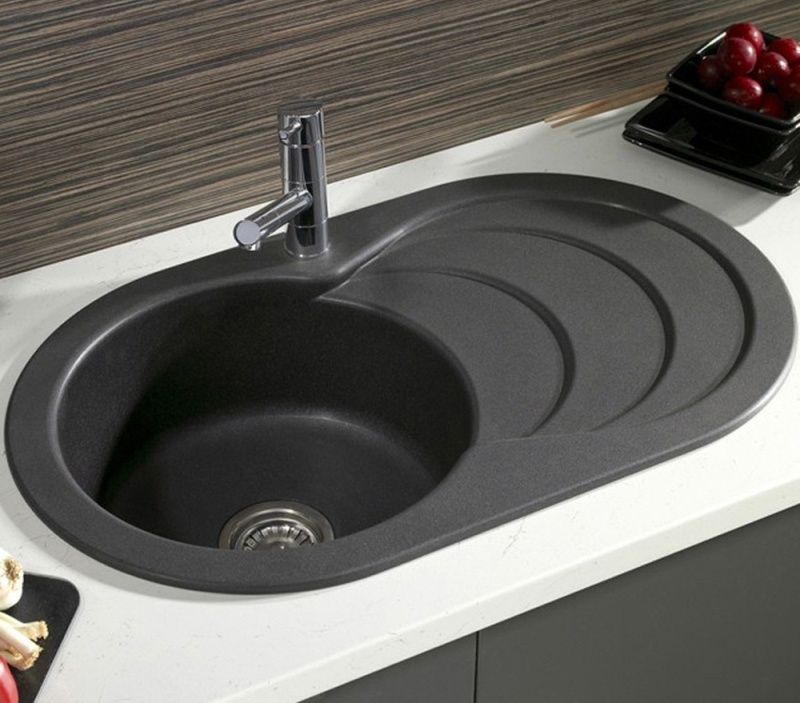 Black Round Kitchen Sinks1