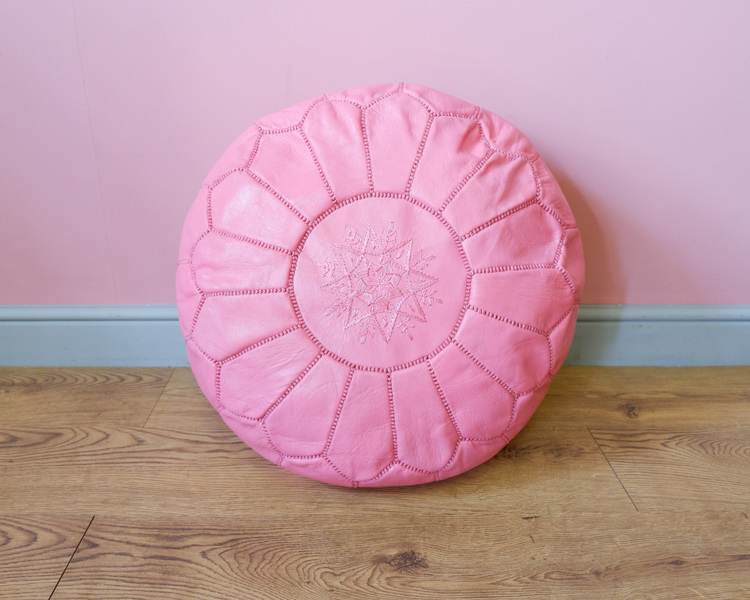 Moroccan Leather Pouffes3