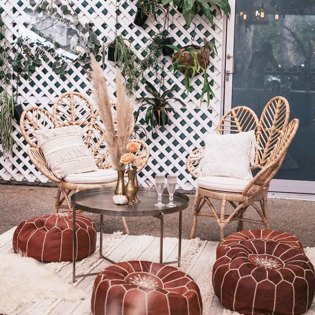 Moroccan Leather Pouffes1