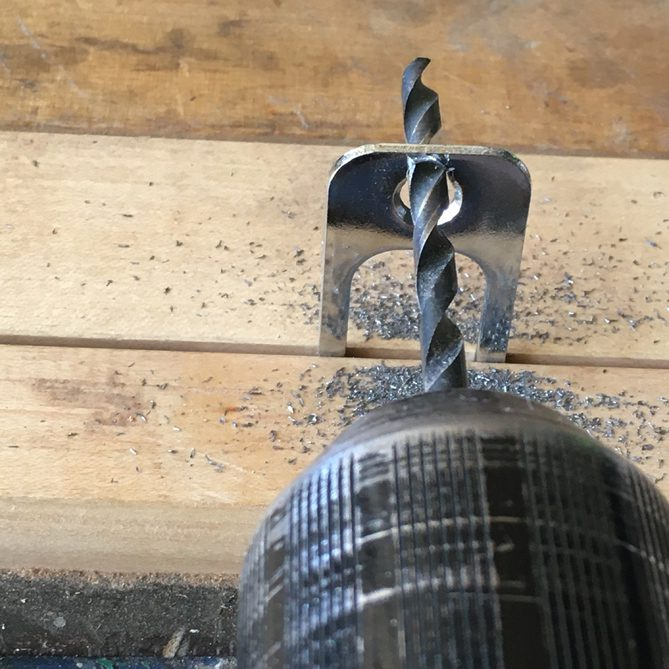 Drill Hole for Door Strike Plate3